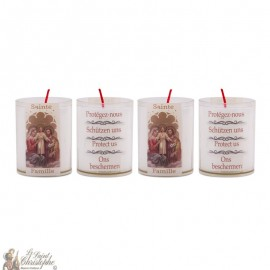 Bougies Veilleuses Sainte Famille - 4 pièces