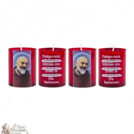 Bougies Veilleuses Padre Pio - 4 pièces