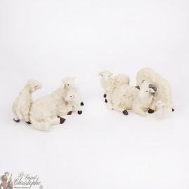 Moutons décoration village de Noël - 2 pcs