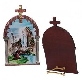 Cadre Apparition de Lourdes avec croix