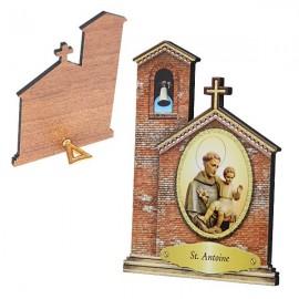 Cadre de Saint Antoine en forme d'Eglise