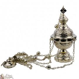 Encensoir sculpté avec clochettes