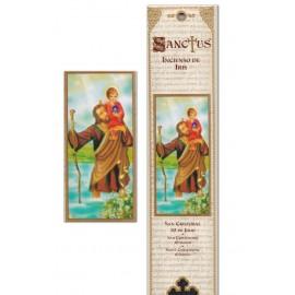 Pochette encens - Saint Christophe - 15 pces
