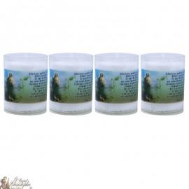 Bougies Veilleuses à Saint Jude - 4 pièces