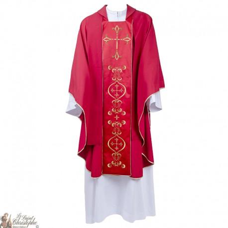 Kasel für Priester mit gestickter Stola