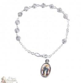 Bracelet dizainier roses métal - personnalisable