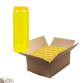 Bougie de neuvaine jaune - carton 20 pièces
